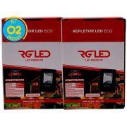 Refletor Led Holofote 10w Kit 2 Unidades Rg Led Premium