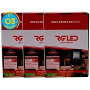 Refletor Led Holofote 10w Kit 3 Unidades Rg Led Premium