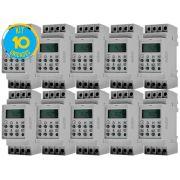 Timer Digital Trilho 220V TMD2IND Exatron ( Kit 10 unidades )