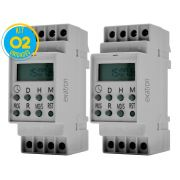 Timer Digital Trilho 220V TMD2IND Exatron ( Kit 2 unidades )