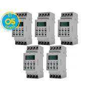 Timer Digital Trilho 220V TMD2IND Exatron ( Kit 5 unidades )