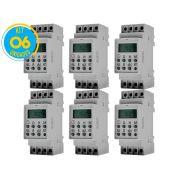 Timer Digital Trilho 220V TMD2IND Exatron ( Kit 6 unidades )