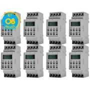 Timer Digital Trilho 220V TMD2IND Exatron ( Kit 8 unidades )