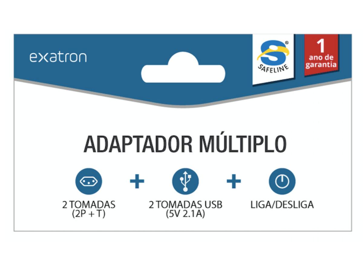 Adaptador Múltiplo 2T + 2 USB - SL6017X Exatron
