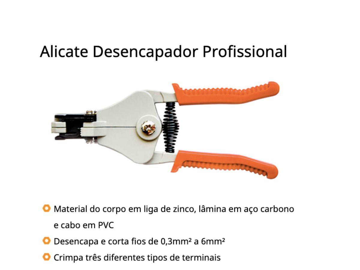 Alicate Desencapador Profissional 7p - 178mm Rayco