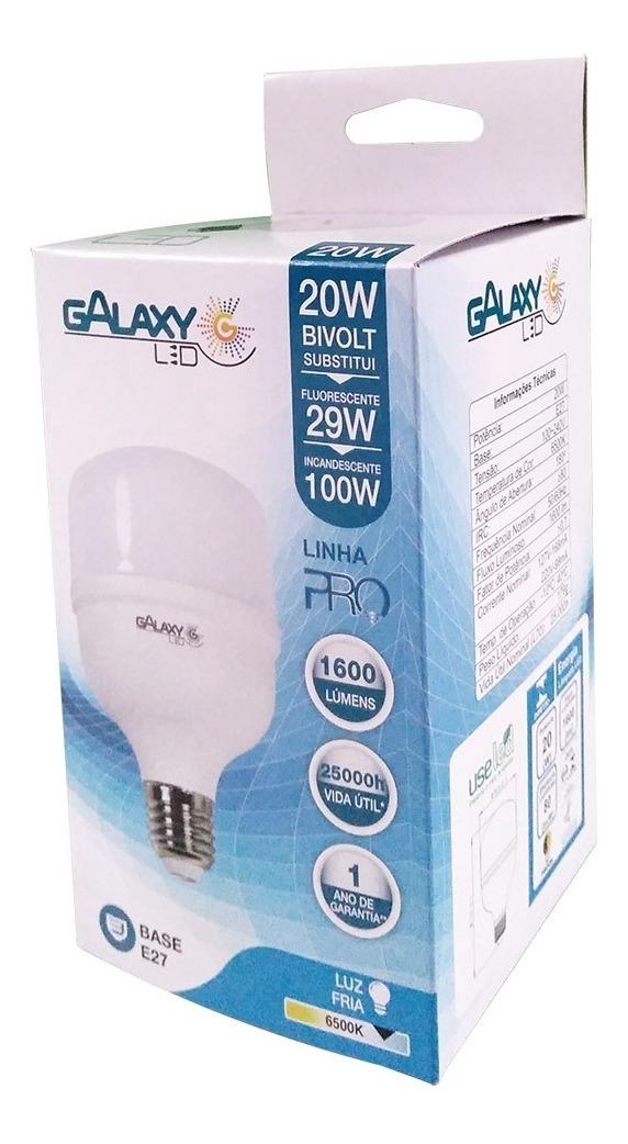 Lâmpada Led Bulbo Luz Fria 20w E27 Galaxy