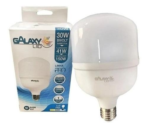 Lâmpada Led Bulbo Luz Fria 30w E27 Galaxy