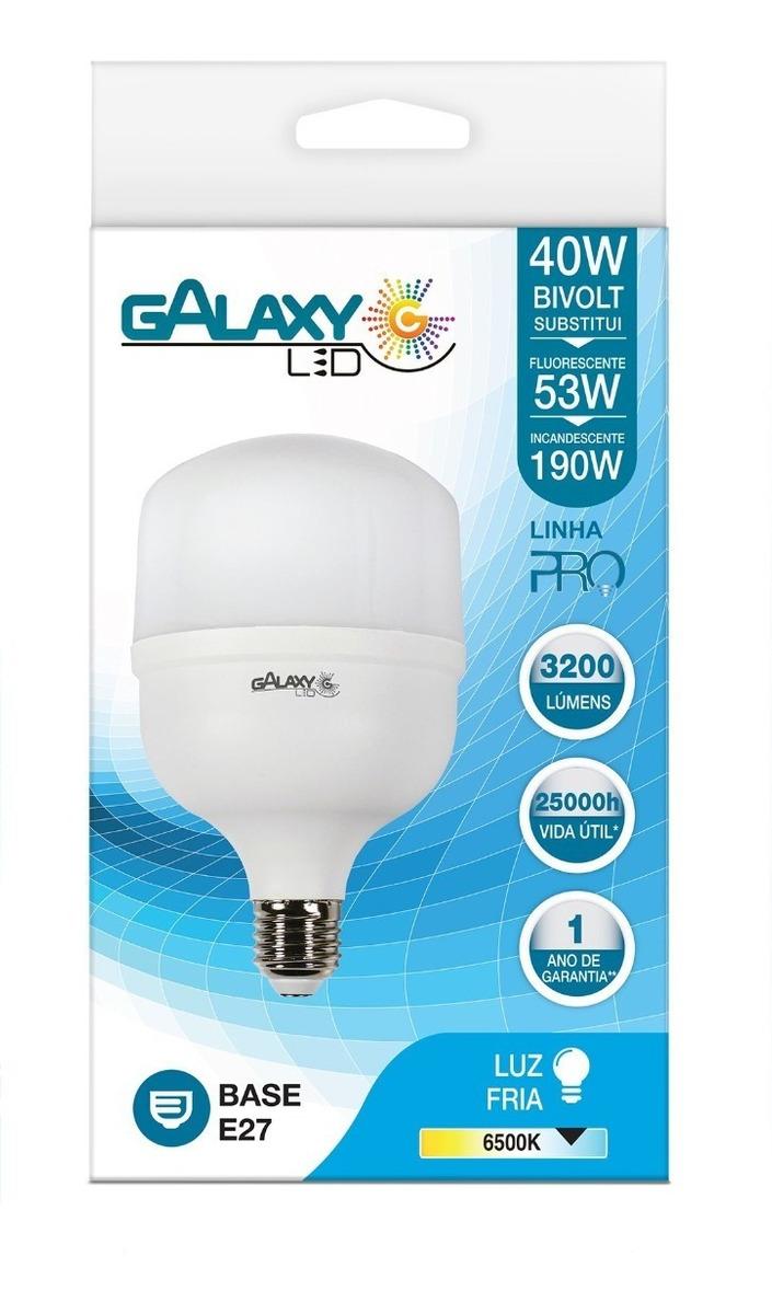 Lâmpada Led Bulbo Luz Fria 40w E27 Galaxy