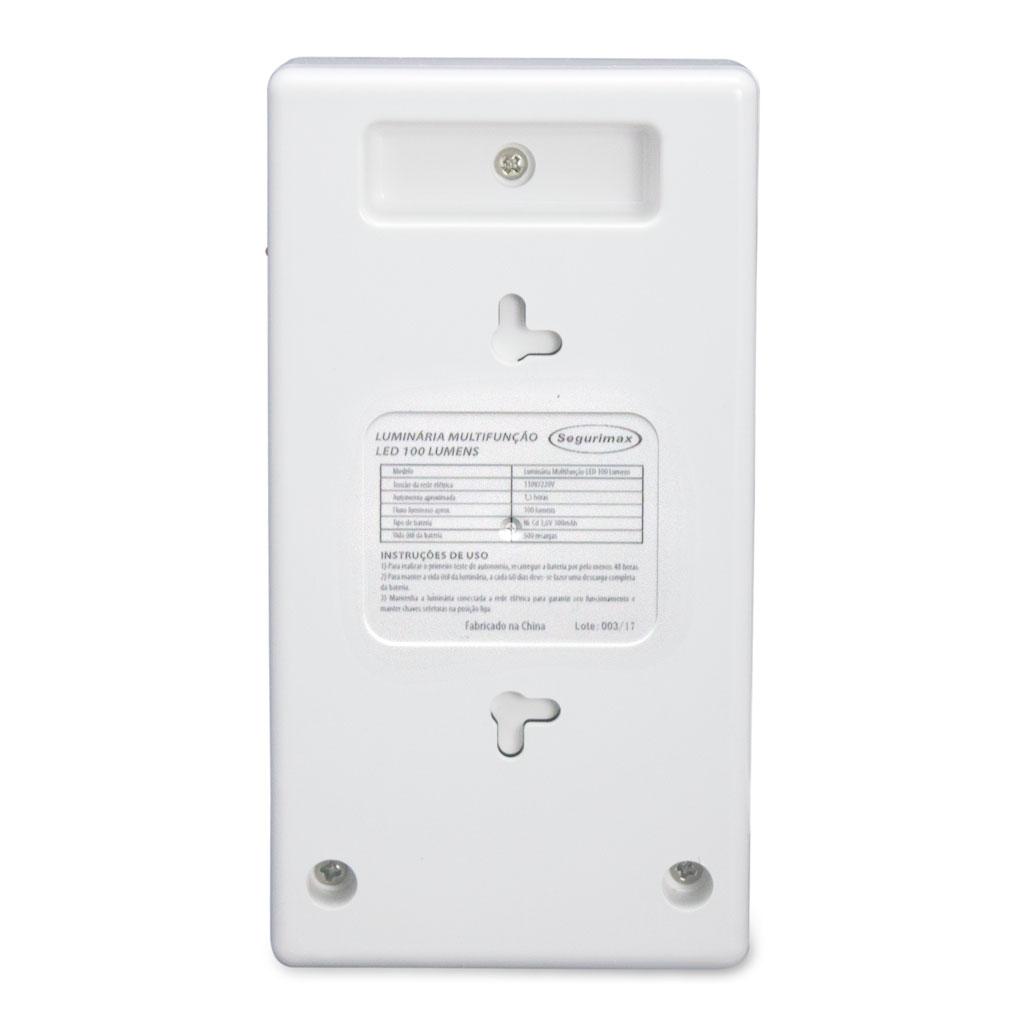 Luminária Emergência Led Compacta Sensor 25685 Segurimax