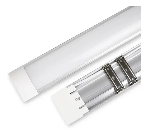 Luminária Linear Led Sobrepor 60cm 18w Luz Fria Asus