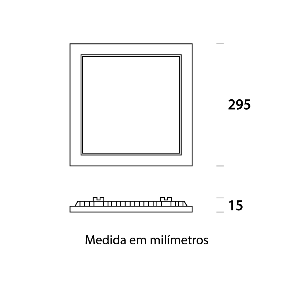 Painel Led Quadrado Embutir 29 x 29cm 24w Fria 6500k Blumenau