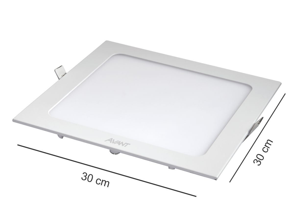 Painel Plafon Led 24W Embutir Quadrado Branco Frio Avant