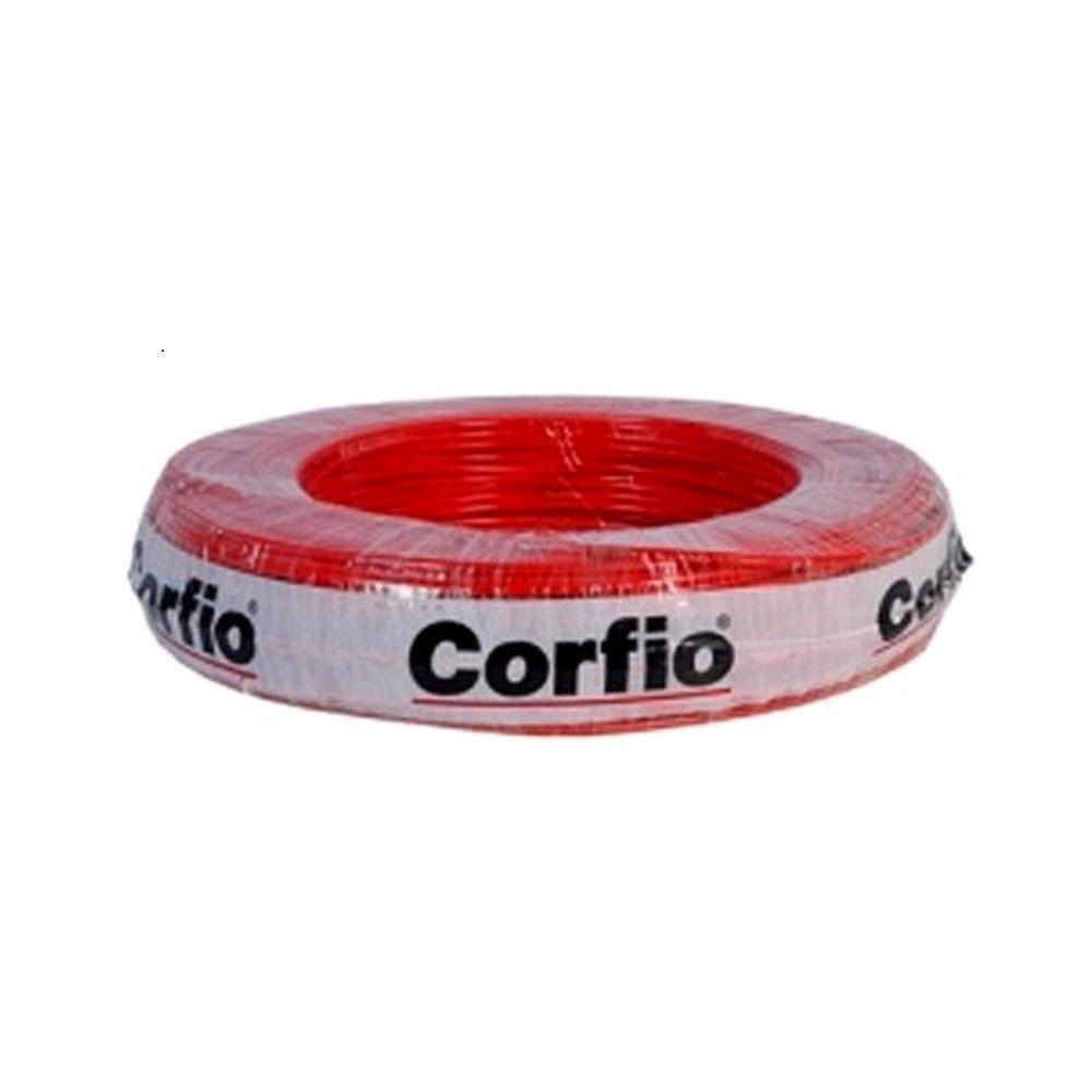Rolo de Cabo Flexível 10.00mm Vermelho Corfio
