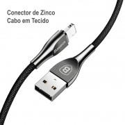 Cabo Lightning Liga de Zinco Baseus Mageweave com 100CM e 2A
