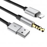 Cabo Baseus L34 Lightning para P2 e USB Com 120 CM