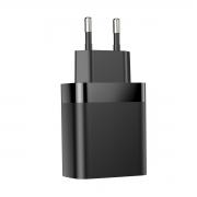 Carregador Rápido de Parede Baseus Mirror Lake com Display 2x USB QC 3.0