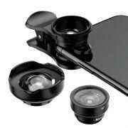 Kit de Lentes HD 3n1 para Celulares Baseus Magic Camera (120º / 180º / 15X)