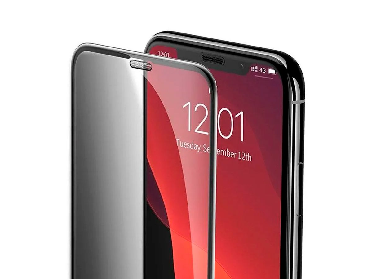 2 Peliculas Privacidade Curva Baseus para iPhone XR e 11 Anti-Poeira