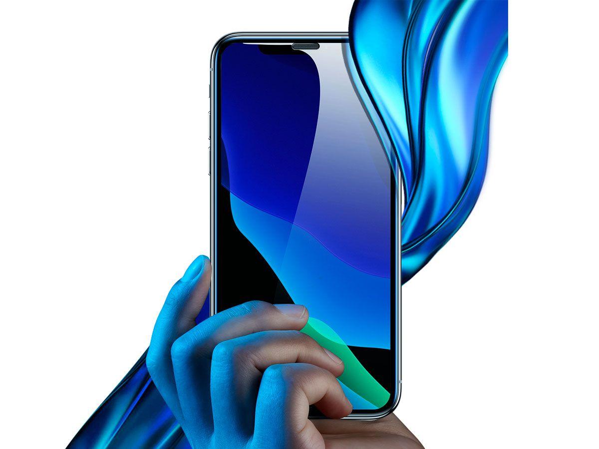 2 Películas Protetoras Curvas Baseus em Vidro Temperado para iPhone XS Max e 11 Pro Max