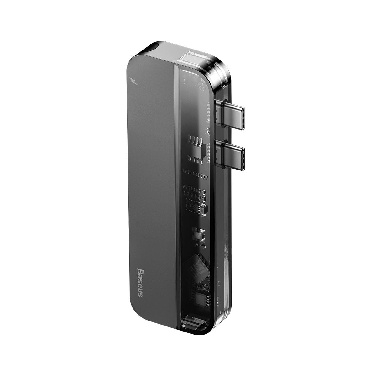Adaptador HUB Baseus Transparent Duplo Type-C (Type-C to Type-C*2+USB3.0*2+4K HD*1)