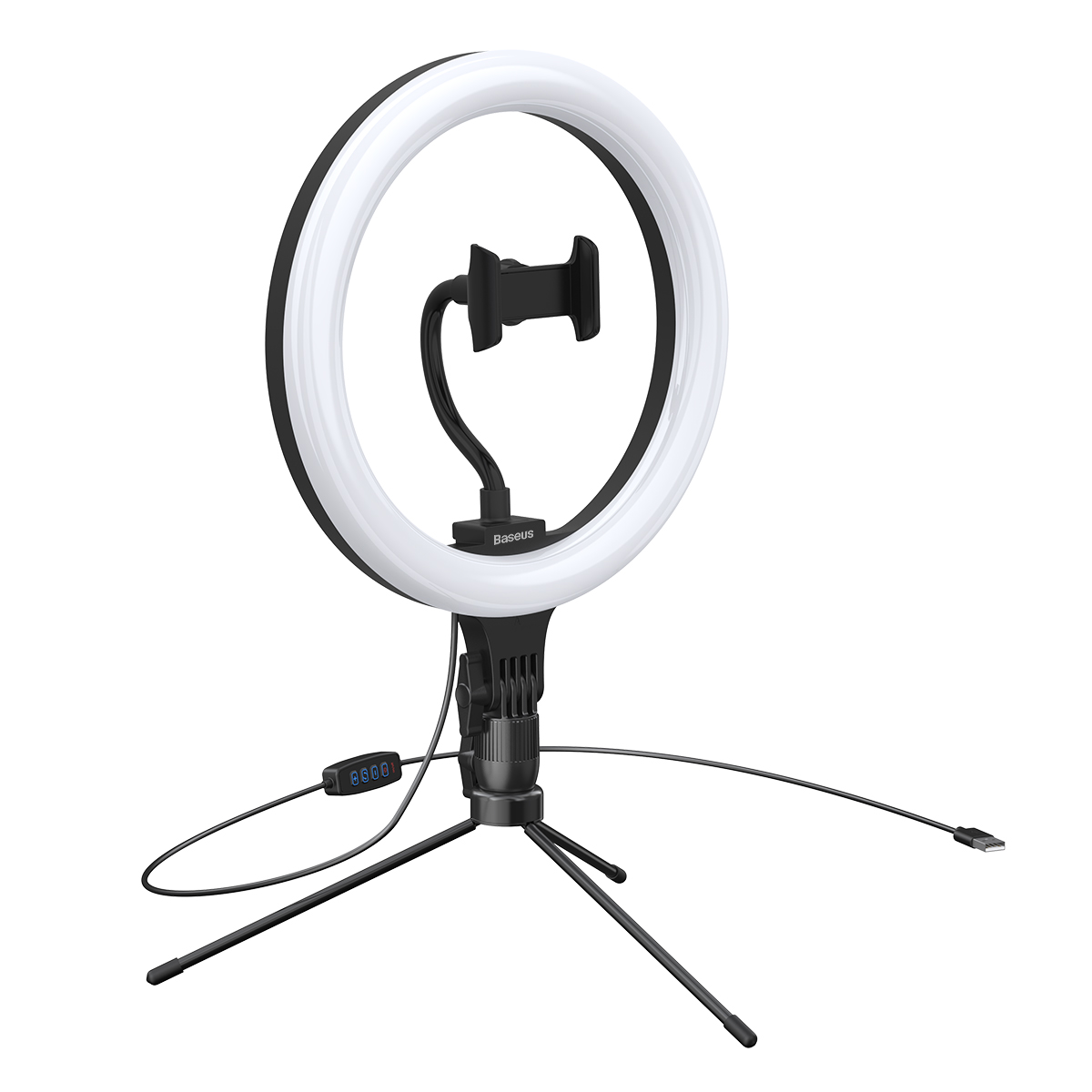 ARO DE Luz para Celulares Baseus Live Stream 10 polegadas com Tripé