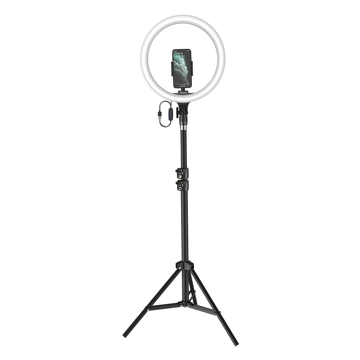 ARO DE Luz para Celulares Baseus Live Stream 12 polegadas com Tripé