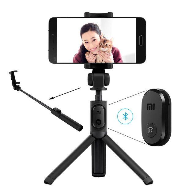 Bastão de Selfie Retrátil e Tripé 360° Para Smartphones