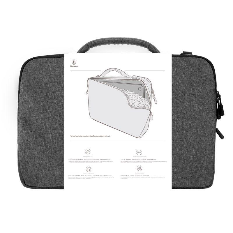Bolsa de Mão Baseus para Notebook de até 15 Polegadas