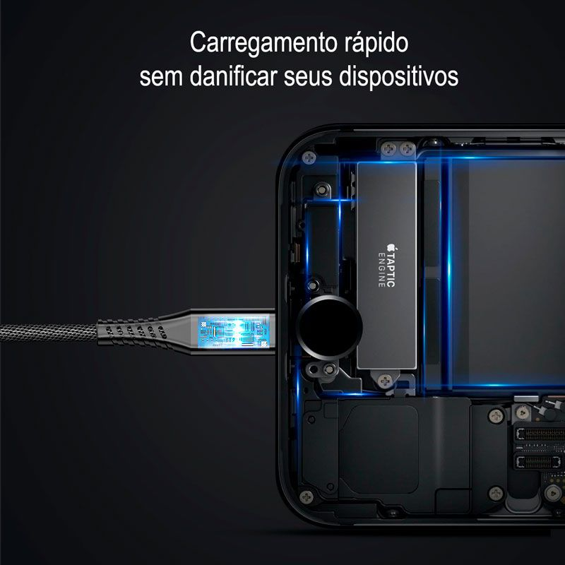 Cabo 2n1: Cabo e Carregador Portátil (Lightning) -  Baseus