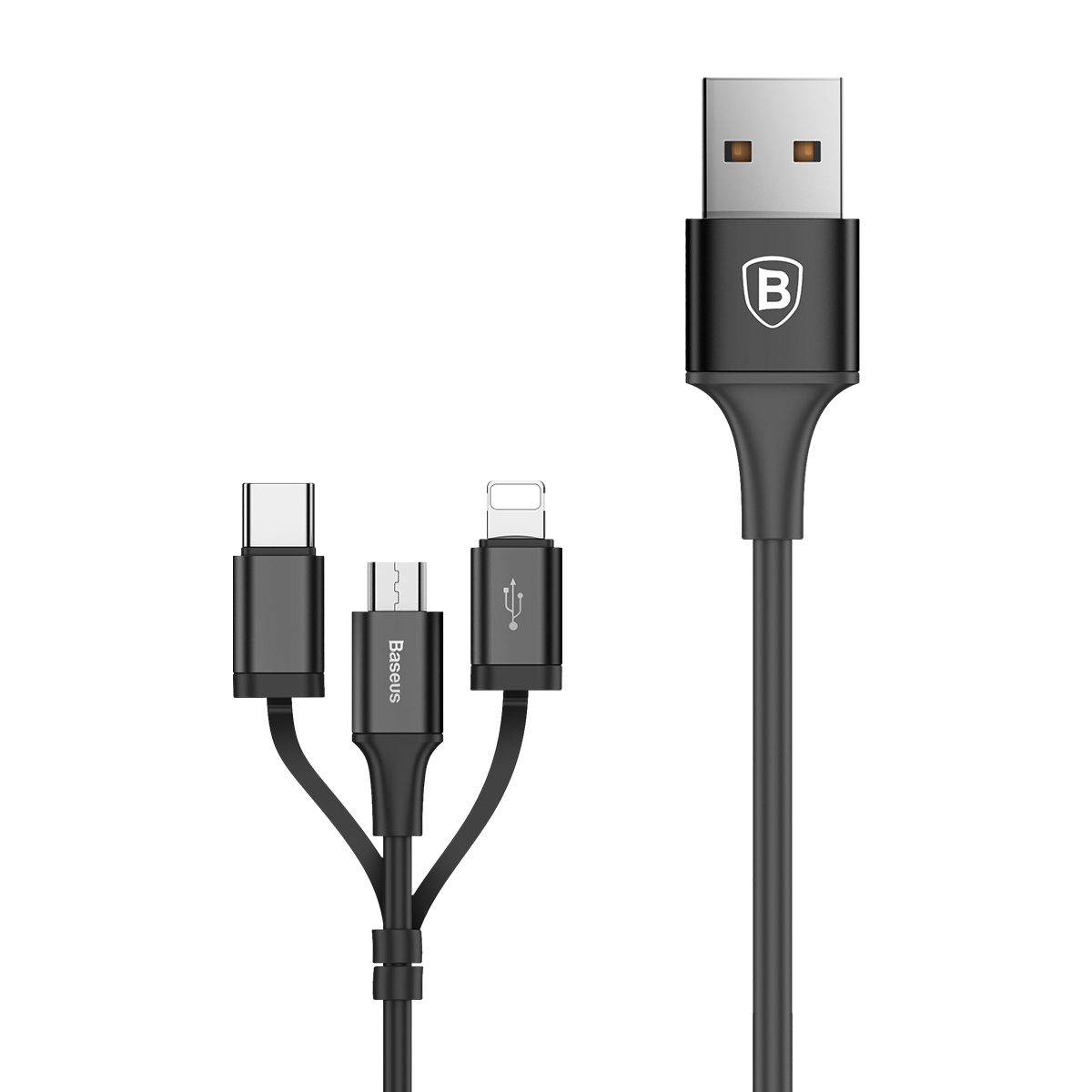 Cabo Baseus Excellent 3in1 USB - Micro USB / Lightning / Type-C 2A 1.2m