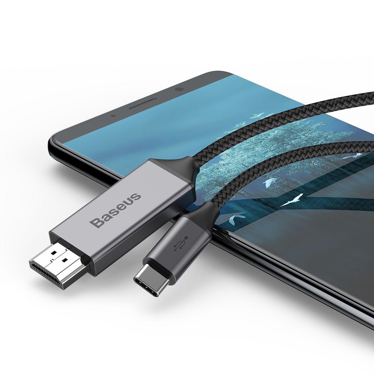 Cabo de Vídeo Baseus Type-C para HDMI 4K 1.8m