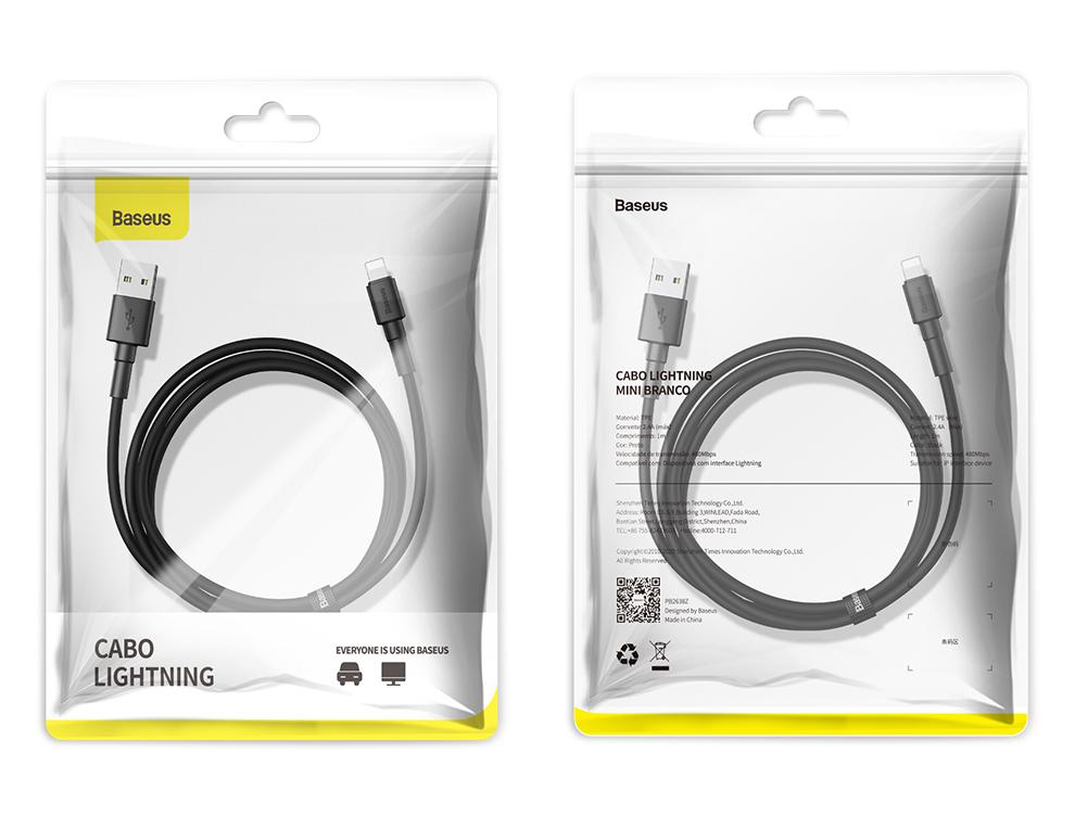 Cabo Lightning / USB Baseus Mini 2.4A 1m