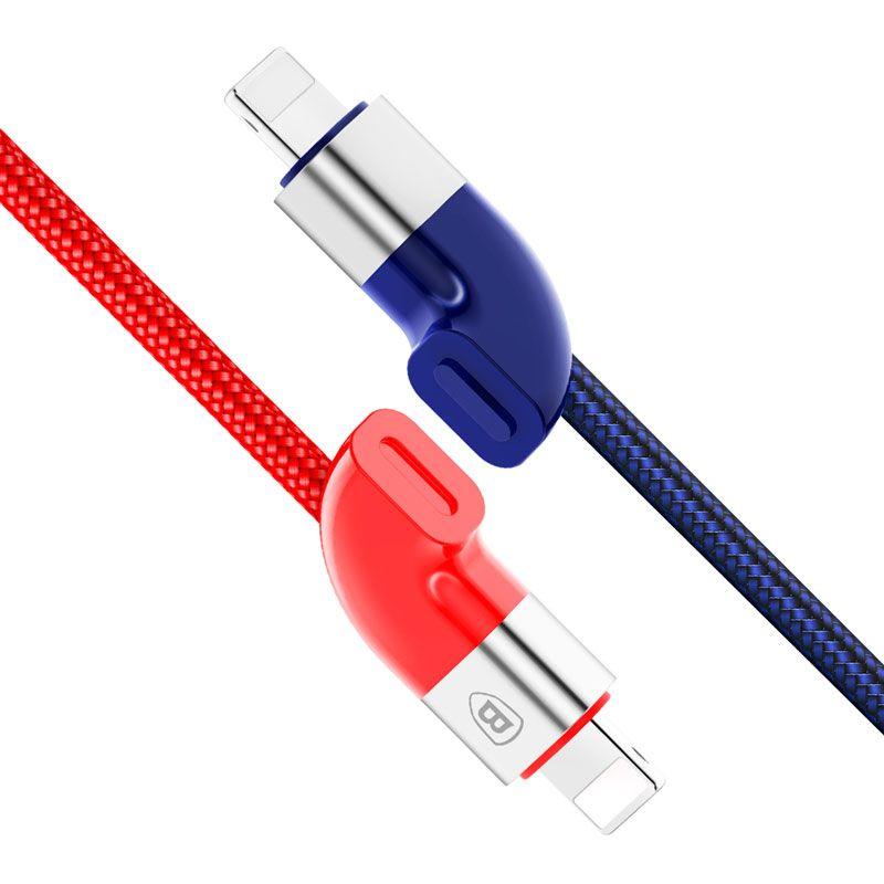 Cabo Lightning Magnético Baseus Couple (2 Cabos) para iPhone 1M