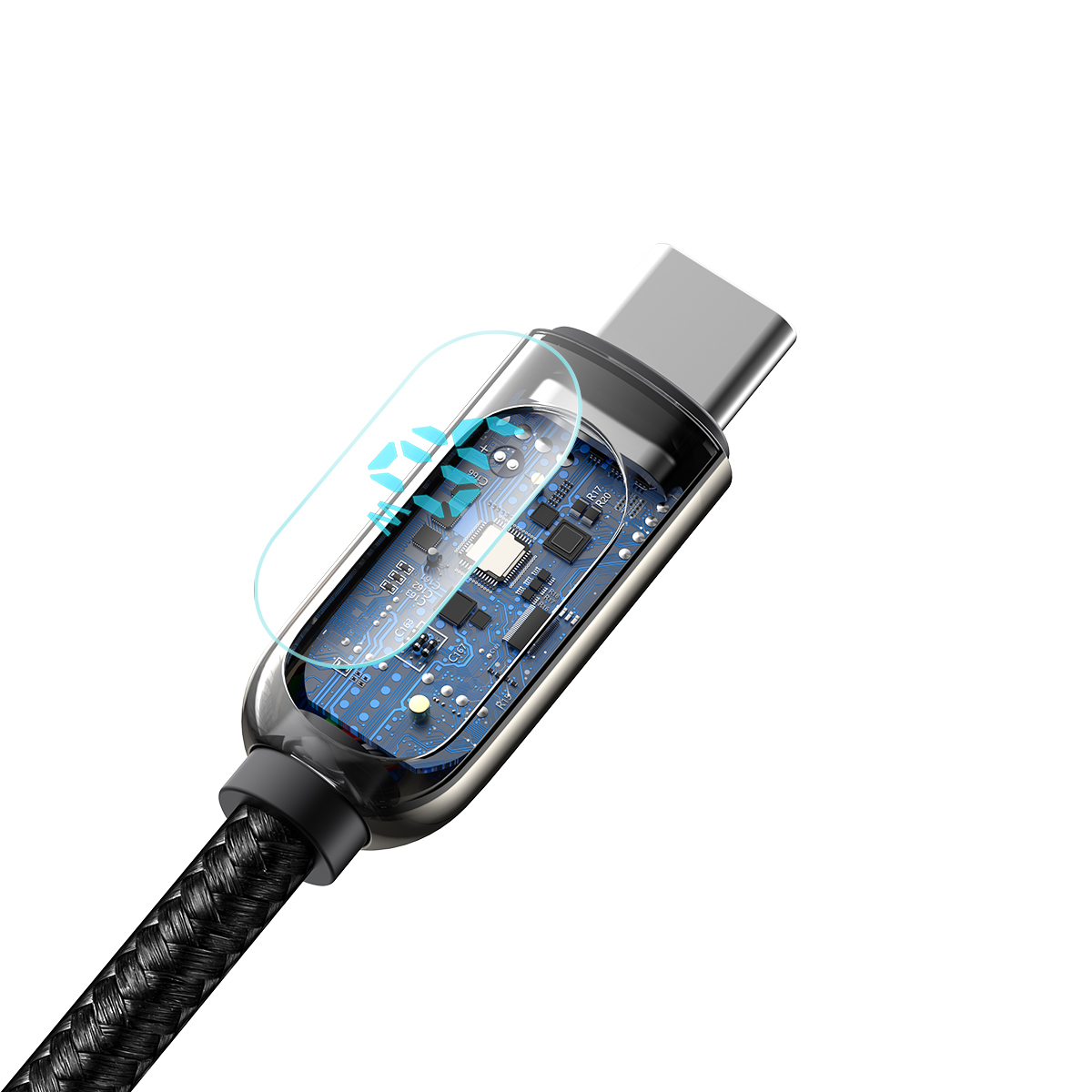 Cabo Type-C Baseus Display Fast Charging 5A 2m