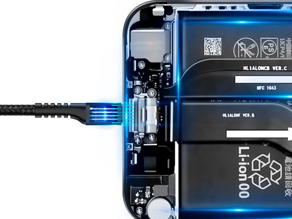 Cabo Type-C para USB Baseus Fish Eye Spring com 2A e 1M