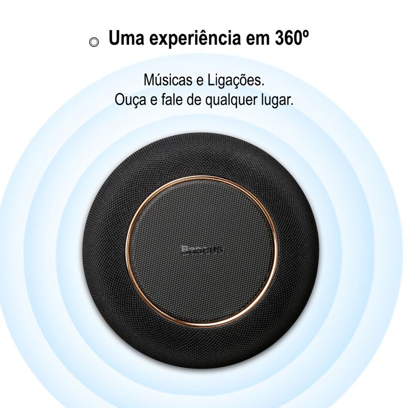 Caixa de Som Bluetooth 2n1 Com Carregamento Sem Fio Baseus Encok E50