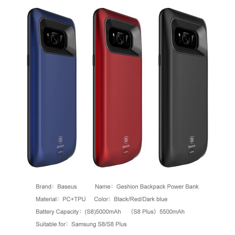 Capa Carregadora Baseus Geshion 5000 mAh para Samsung S8