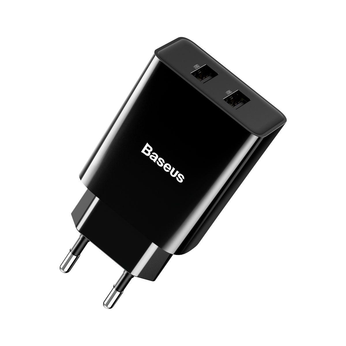 Carregador de Parede Baseus Speed Mini Duplo USB 10.5W