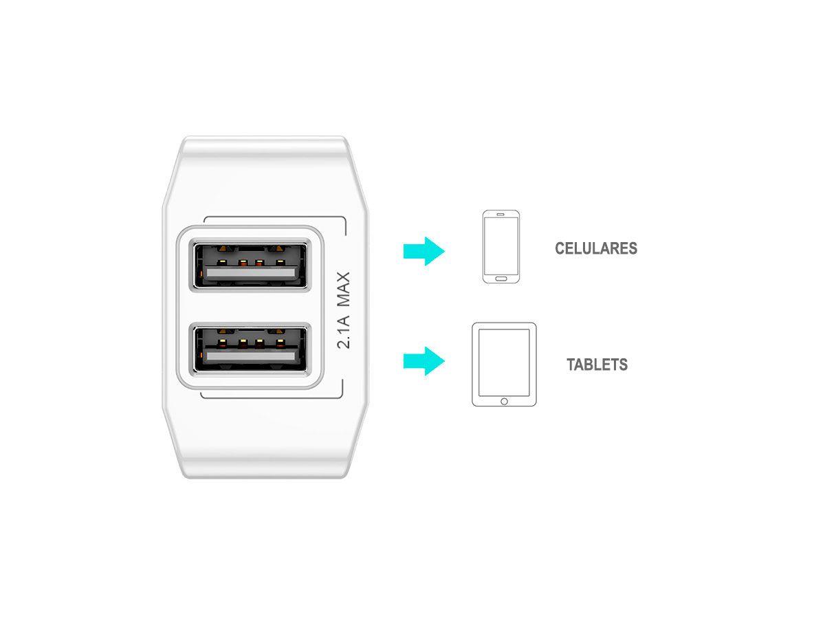 Carregador de Parede Duplo USB 2.1A Baseus Dual-U