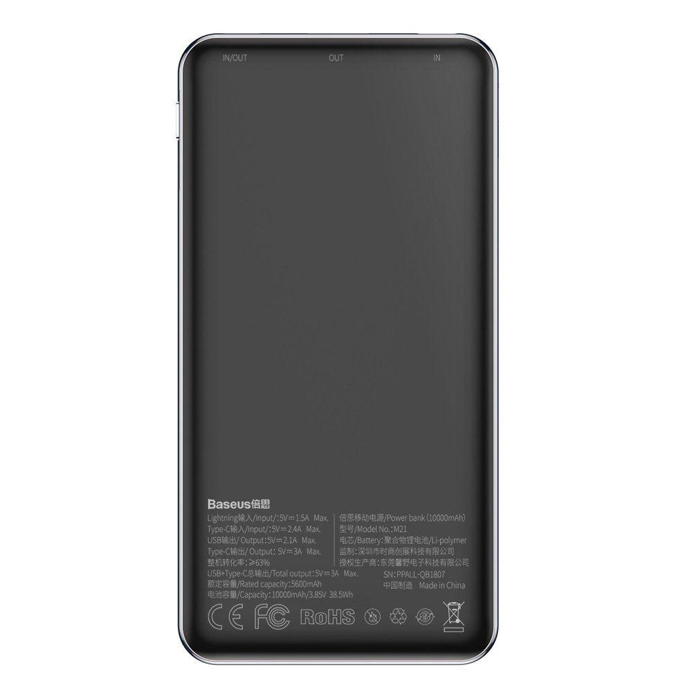 Carregador Portátil Baseus Ultrafino Simbo USB + Type-C 10000mAh