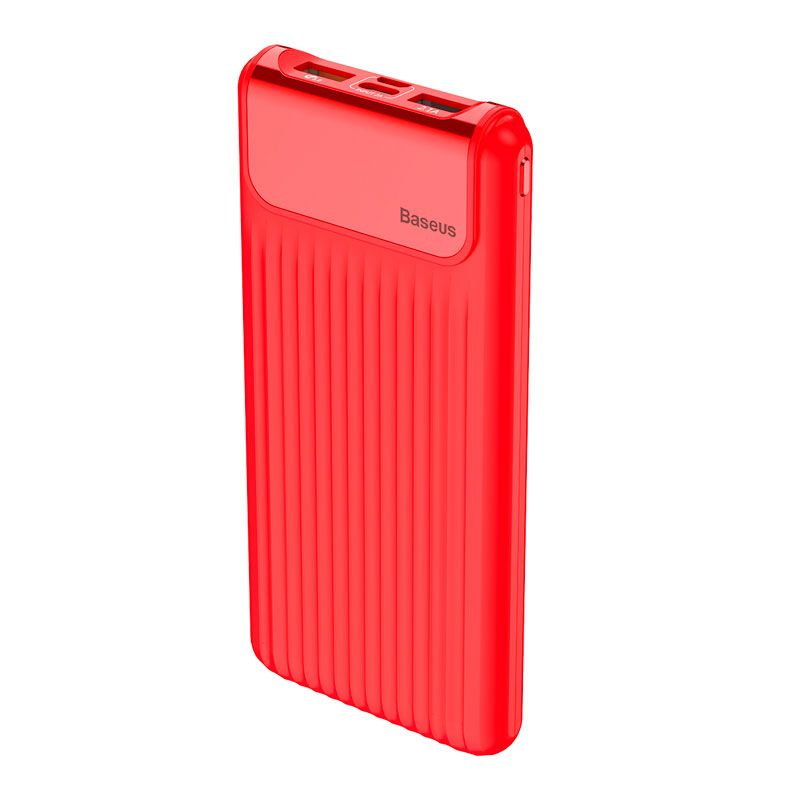 Carregador Portátil Baseus Thin 10000 mAh Display Digital Duplo USB e QC 3.0