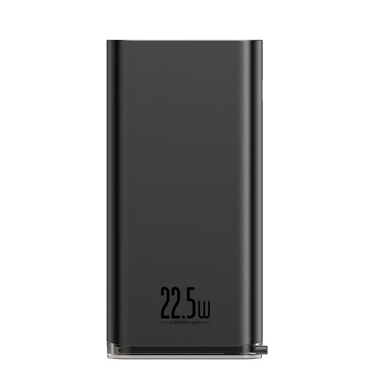 Carregador Rápido Portátil com Display Digital Baseus Starlight 20000mAh 22.5W
