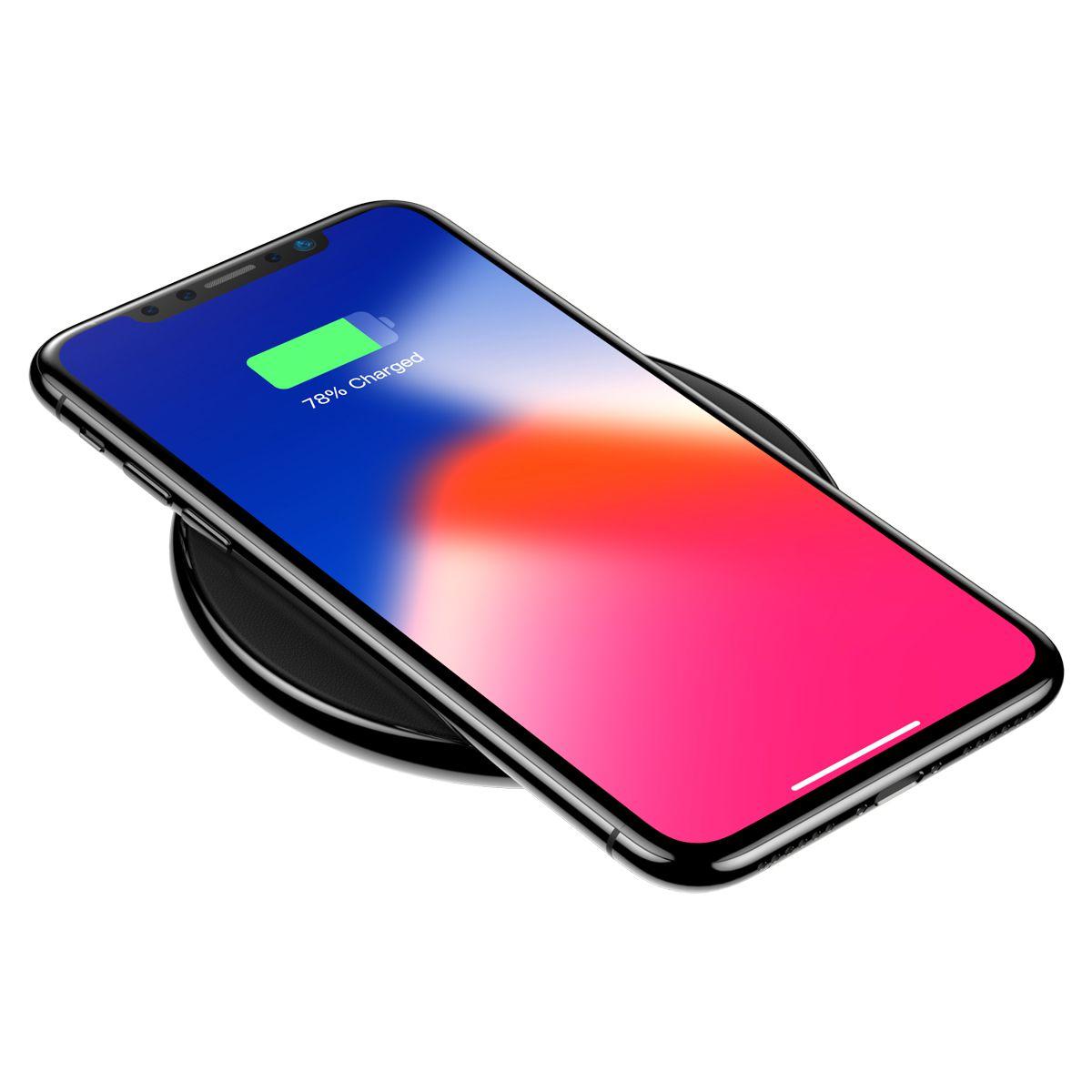 Carregador Sem Fio Redondo Baseus para iPhone X e Smartphones