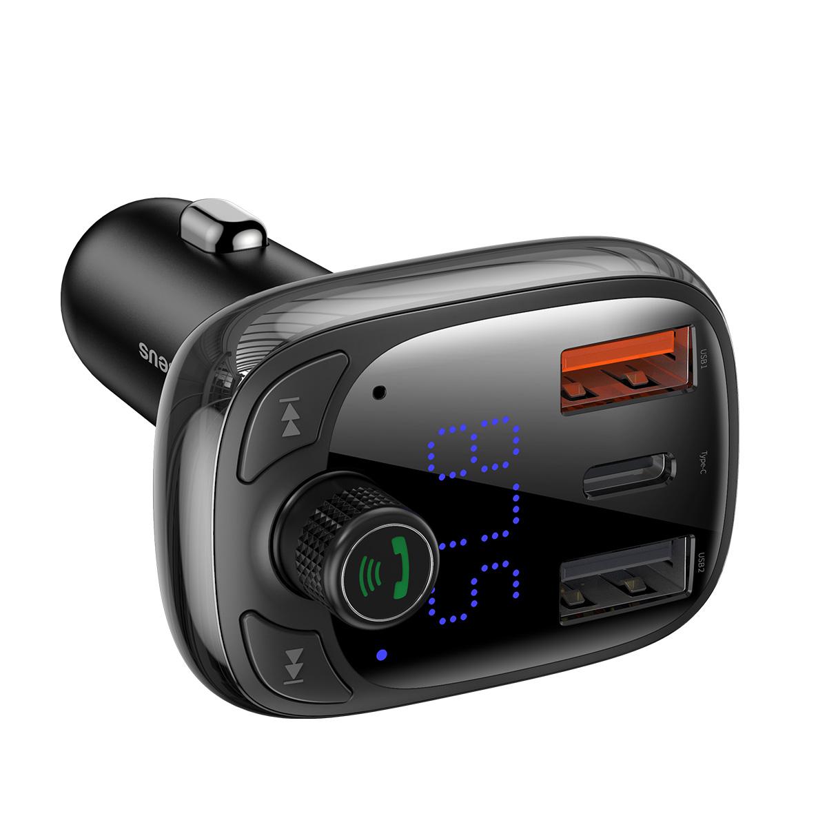 Carregador Veicular Baseus MP3 Bluetooth Q.C Tipo T