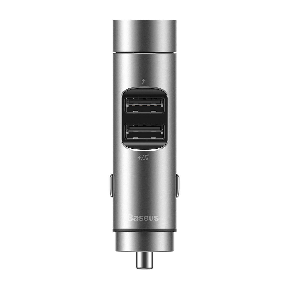 Carregador Veicular com MP3 Bluetooth 5.0 Baseus Column Car 5V 3.1A