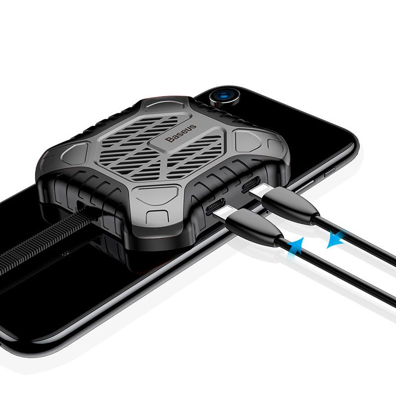 Cooler para Resfriamento do iPhone com 2 Entradas Lightning Baseus X-Men Audio Radiator