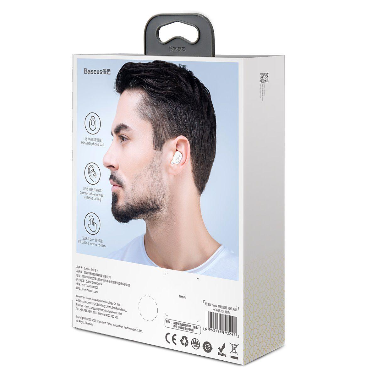 Fone de Ouvido Bluetooth Baseus Encok A03