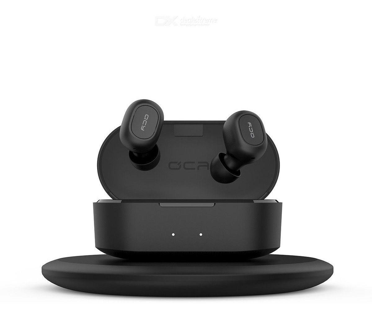 Fone de Ouvido QCY T2S TWS Bluetooth 5.0 com Carregamento sem Fio