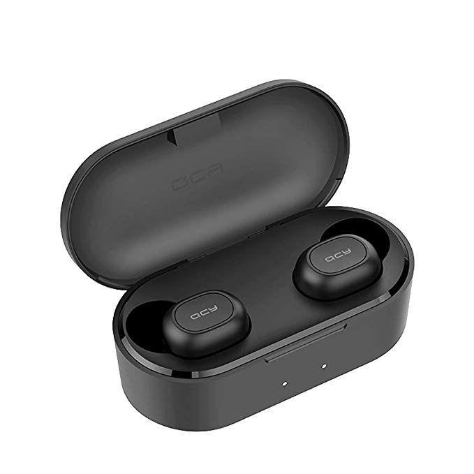 Fone QCY T2C TWS Bluetooth 5.0 + Case Carregador de 800 mAh