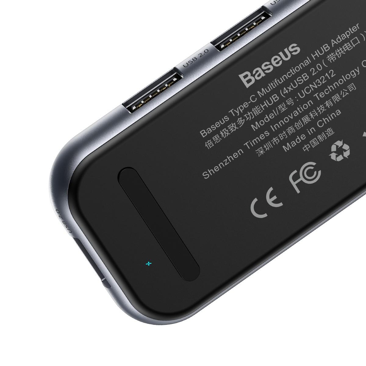 Hub Adaptador Baseus Multi-Funcional (Type-C to 4x USB 2.0)